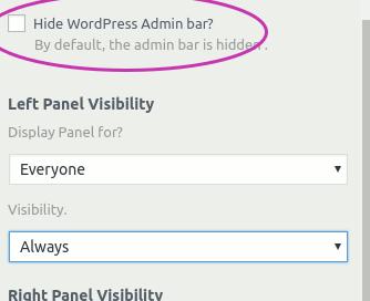 Community Builder Theme - Layout Panel