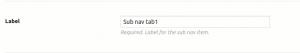 Group Sub tab Options