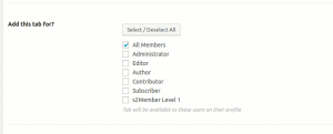 Modify the visibility and availability of the existing BuddyPress Profile Tab