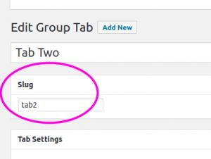 Enable Slug Option for the Group Tab Editing