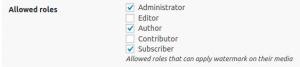 MediaPress User Watermark Admin settings guide