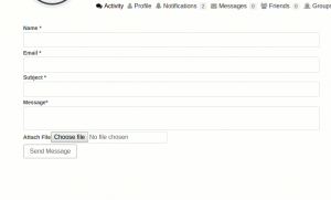 Frontend Settings for BuddyPress user contact form