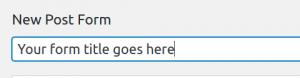 Configuring BuddyBlog Pro User Posting Form