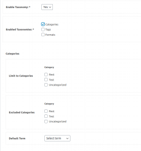 How to configure taxonomies in BuddyBlog Pro posting forms