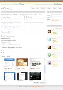 Buddypress Registration page