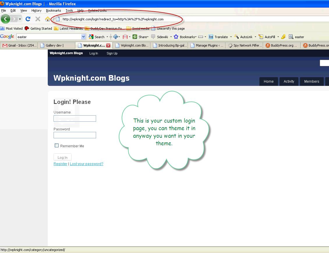 Branded Login Plugin for your BuddyPress Powered site • BuddyDev