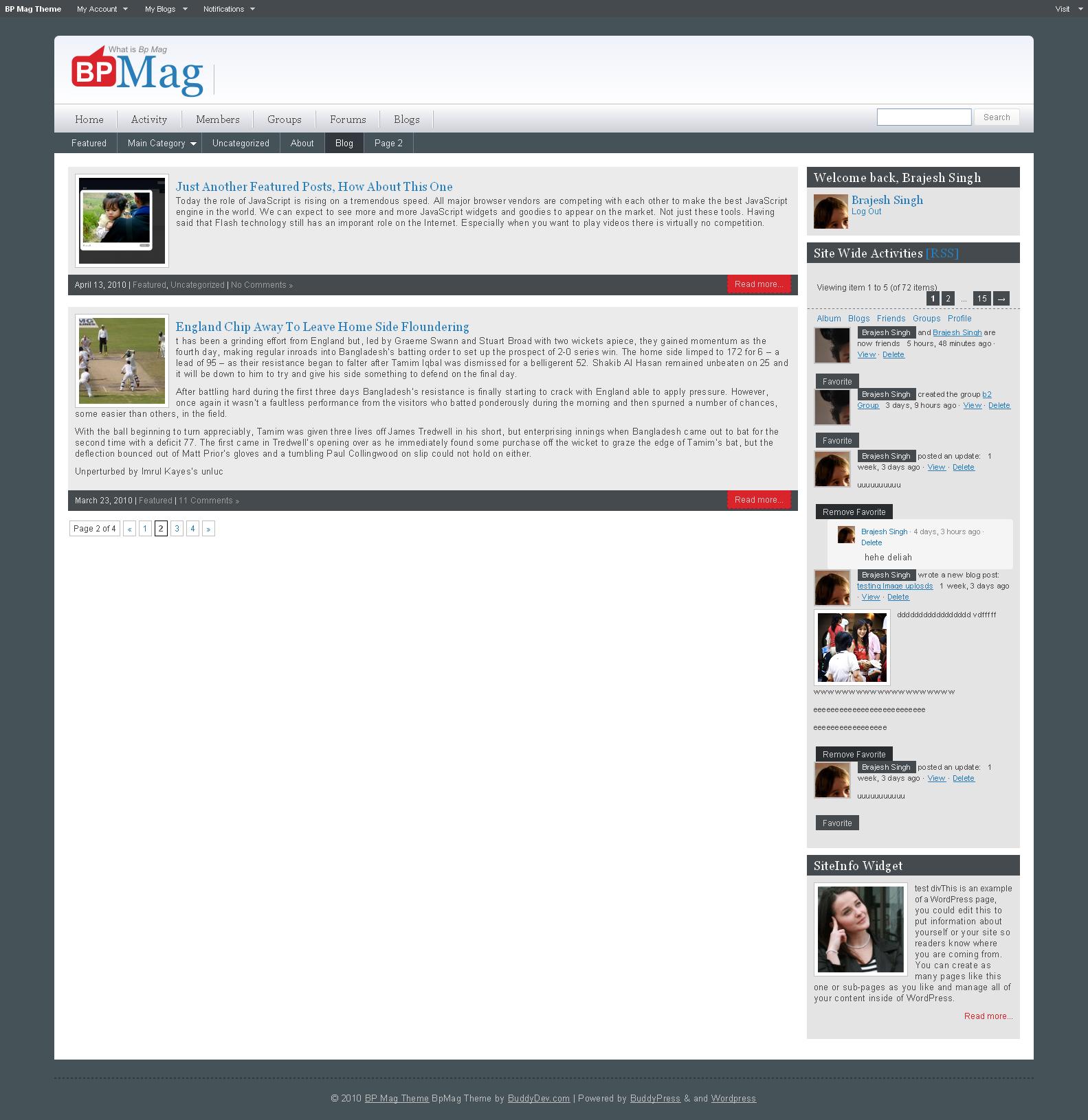 Photo Page: Screenshots • BuddyPress Themes • BuddyDev