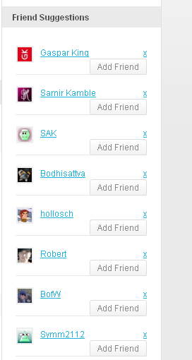 BuddyPress Friends Suggest