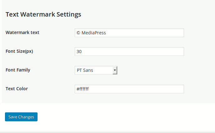 mediamark-text-watermark-settings