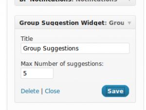 BuddyPress Group Suggestions Widget