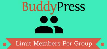BuddyPress Limit Members Per Group