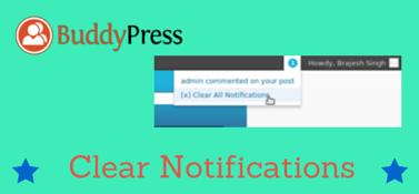 BuddyPress Clear Notifications