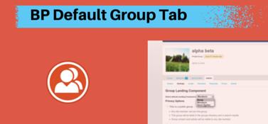 BuddyPress Default Group Tab