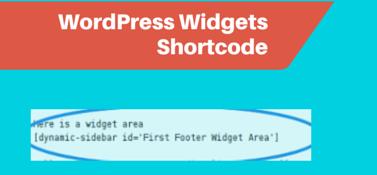 WordPress Widgets Shortcode