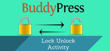 BuddyPress Lock Unlock Activity