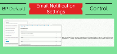 BuddyPress Default Email Notification Settings Control