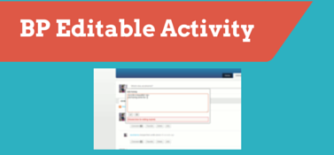 BuddyPress Editable Activity
