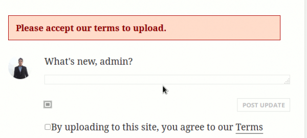 Not agreed error