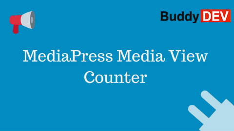 MediaPress Media View Counter