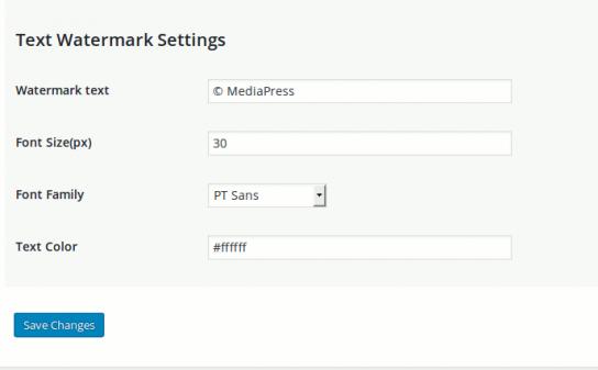 mediamark-text-watermark-settings