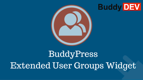 BuddyPress Extended User Groups Widget