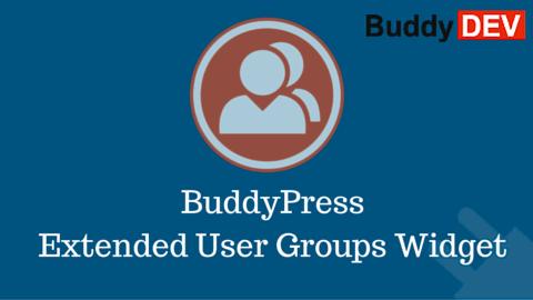 BuddyPress Extended User Groups Widget