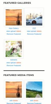 MediaPress Featured Content