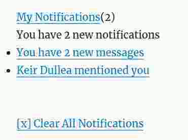 BuddyPress notification widget shortcode integration