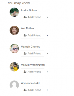 BuddyPress Friends suggestions list